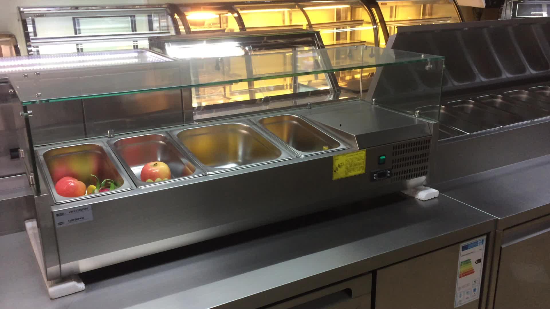 信頼性品質カウンタートップシングルドア saladette サラダ表示