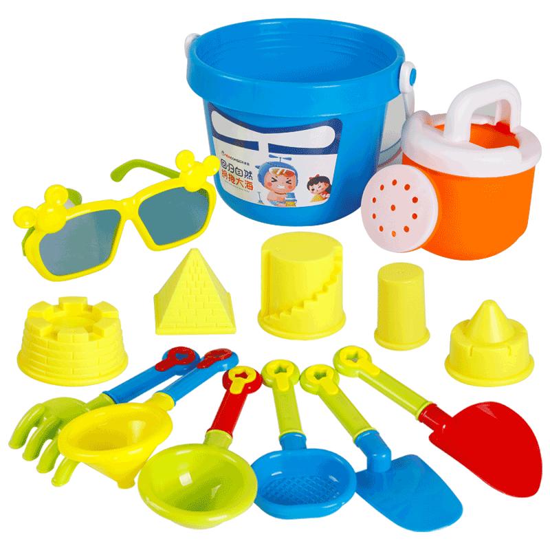 建雄儿童套装挖沙铲子桶沙滩玩具车