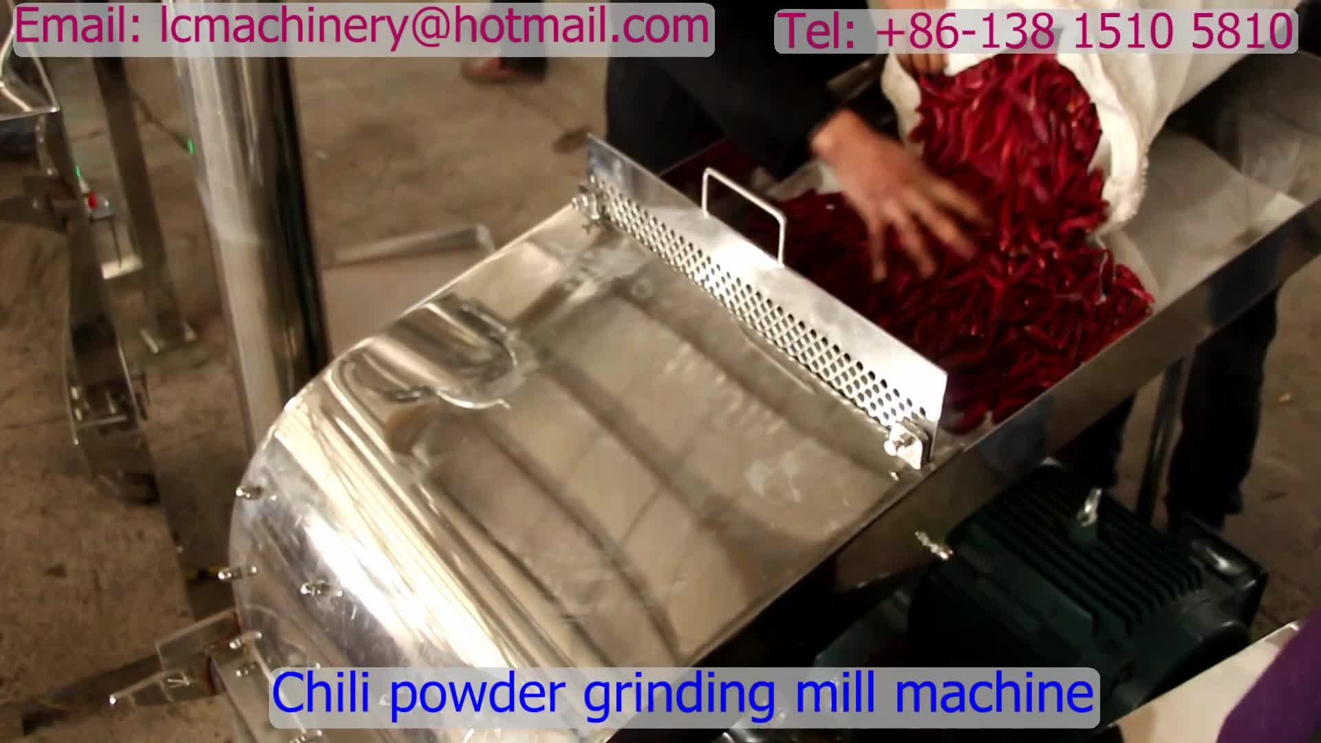Red Chili Spices Powder Grinding Mill Machine