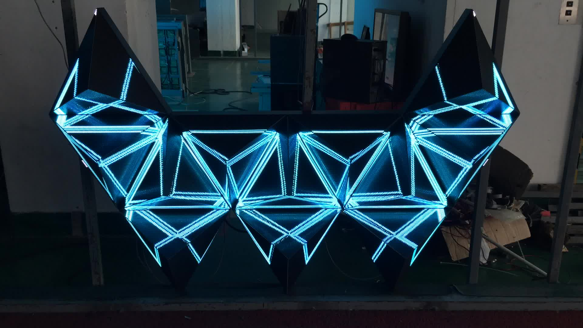 2017 hot selling nightclub led display 3d dj booth console table