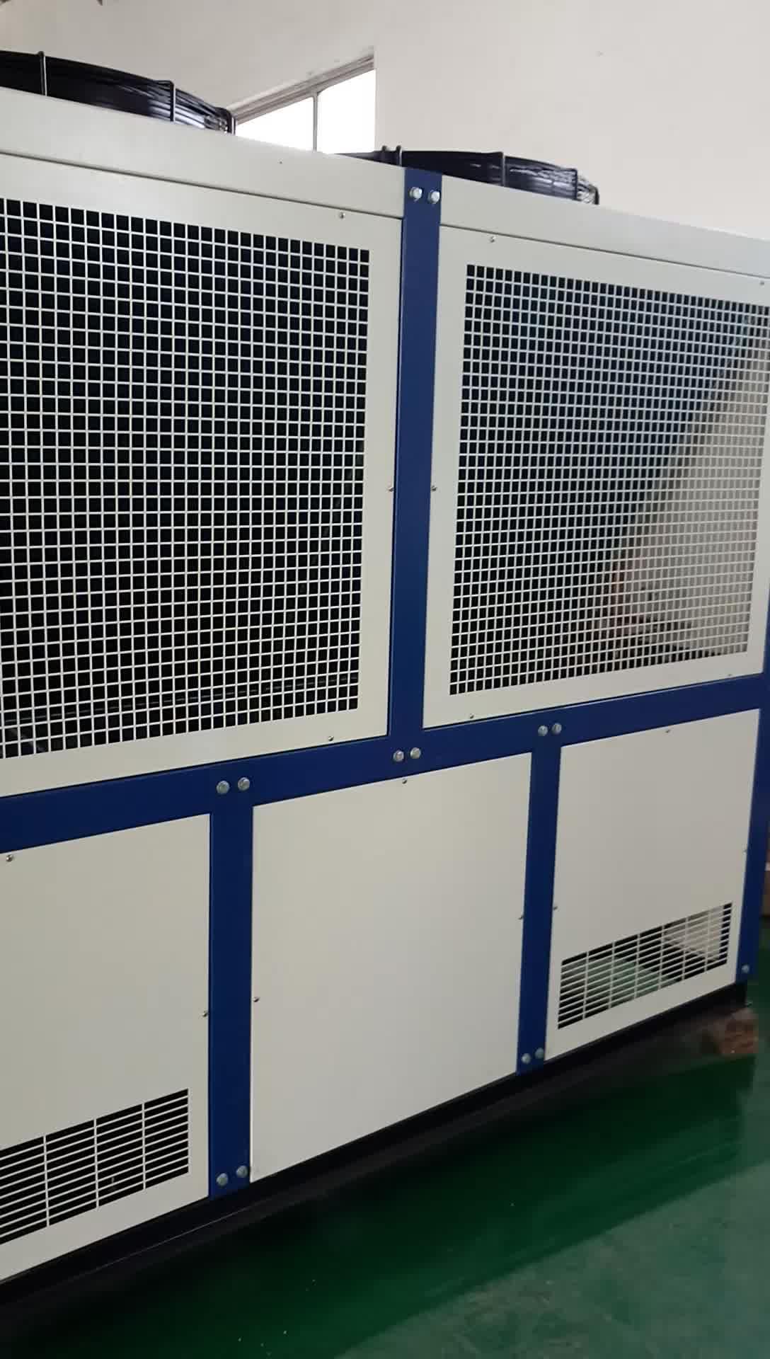 100KW ระบบระบายความร้อน 30 ตัน 40HP อุตสาหกรรมเครื่องทำความเย็นด้วยน้ำเย็น