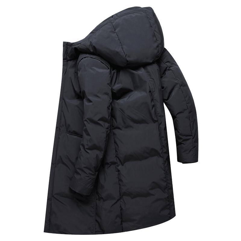 2018新款羽绒服男士中长款连帽外套学生潮流韩版冬季加厚大衣男装