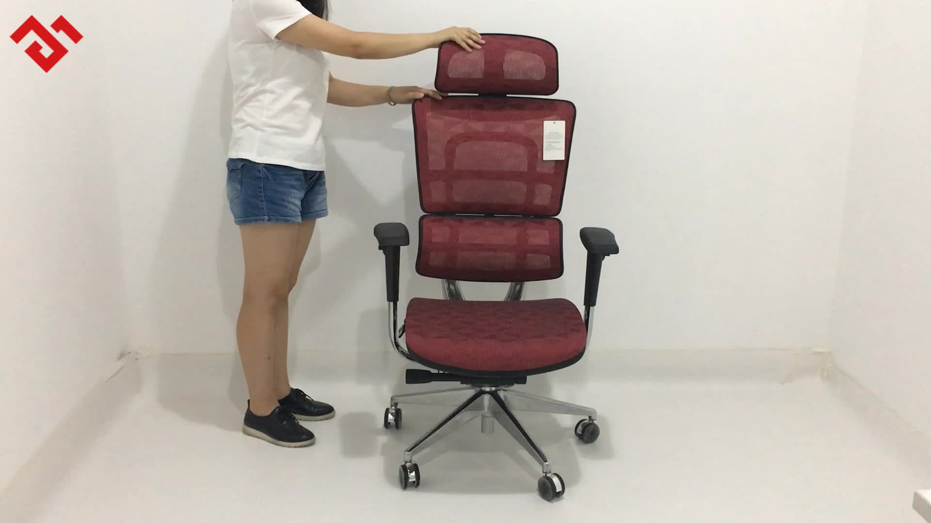 Chaise de bureau ergonomique | Maille, réglable à haut dossier, haute qualité, personnalisée, meilleure chaise de bureau ergonomique