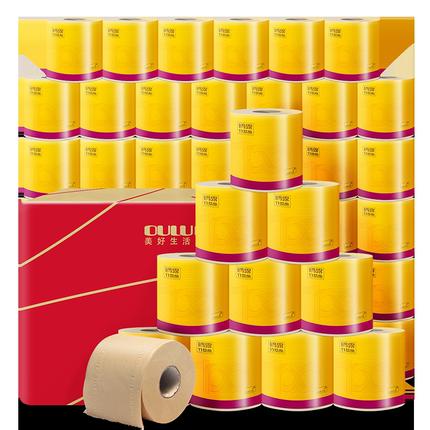 鷗露本色紙家用批發整箱32卷衛生紙