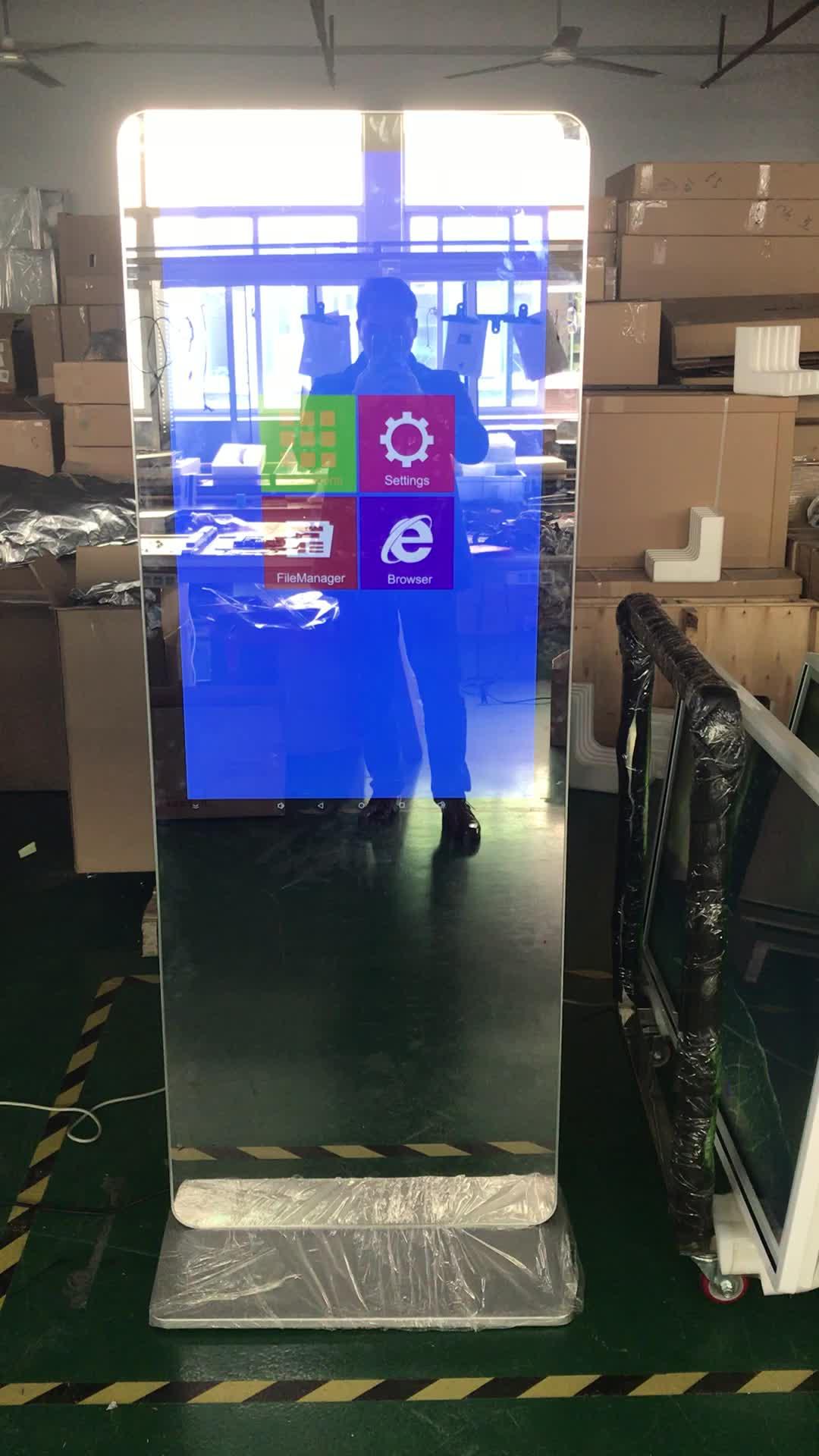43 นิ้ว LCD Interactive กระจกสมาร์ท Android Touch Screen สำหรับโฆษณา