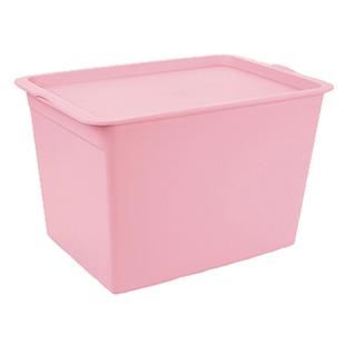 化妆品收纳盒带盖塑料储物箱收纳箱