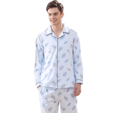 南极人男士薄款长袖纯棉春秋冬睡衣