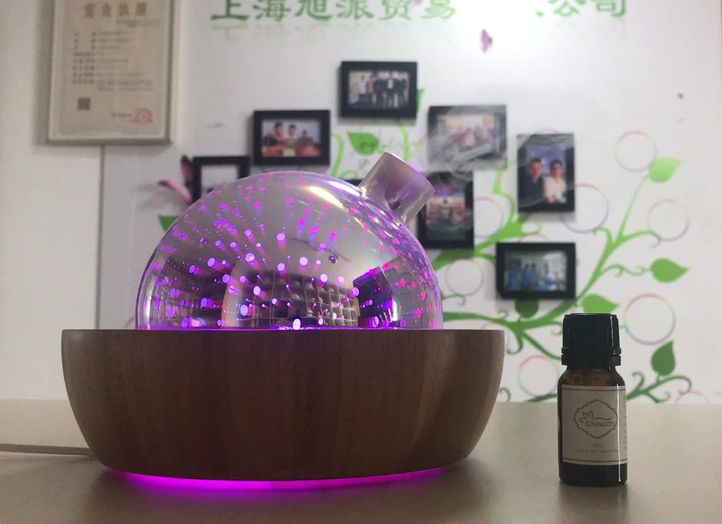 soicare 3d glass and bamboo aroma diffuseur d 39 huiles essentielles buy aroma diffuseur