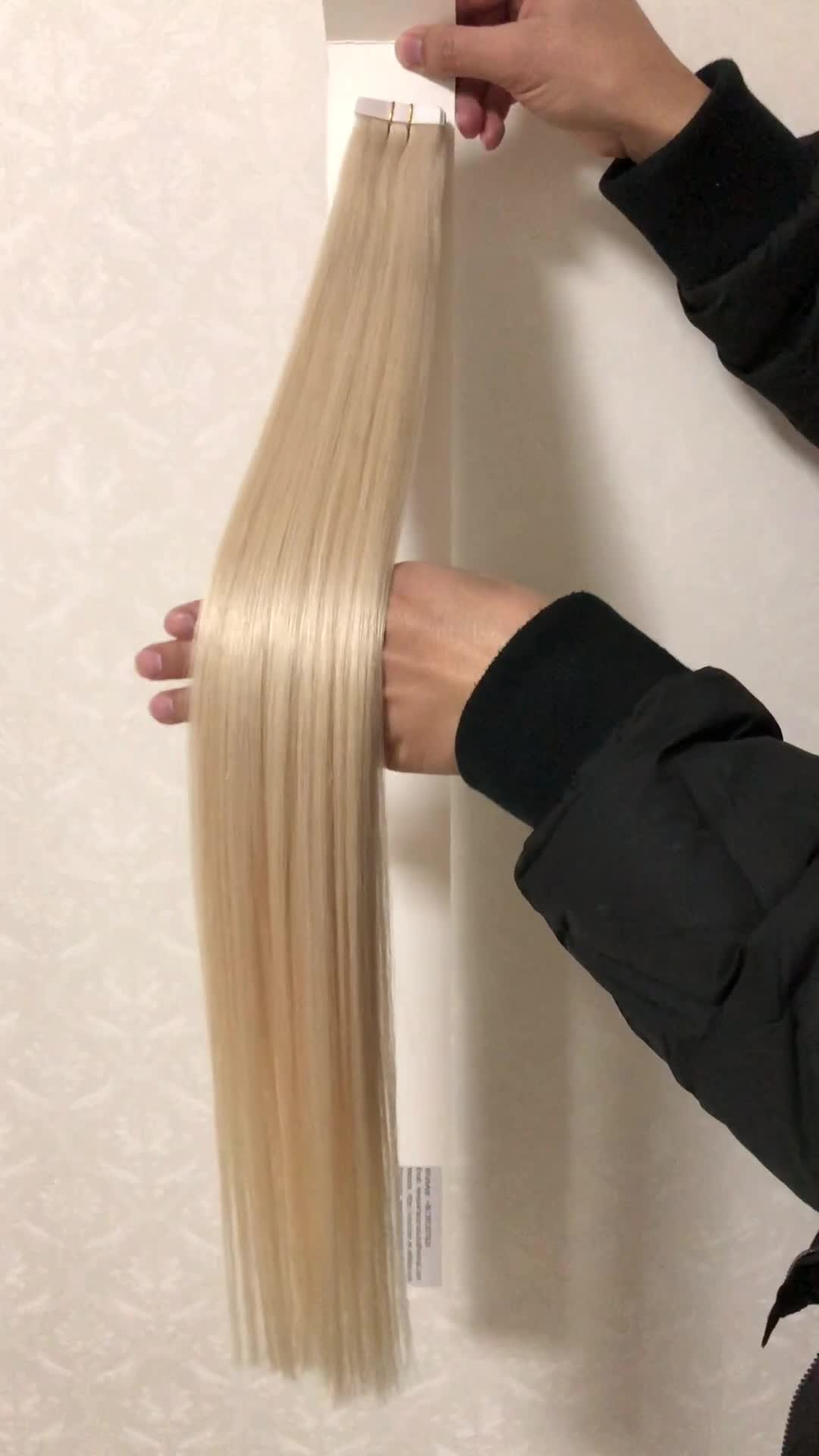 16 Inch To 30 Inch Remy Tape Hair Extensions Human Hair Blonde Body