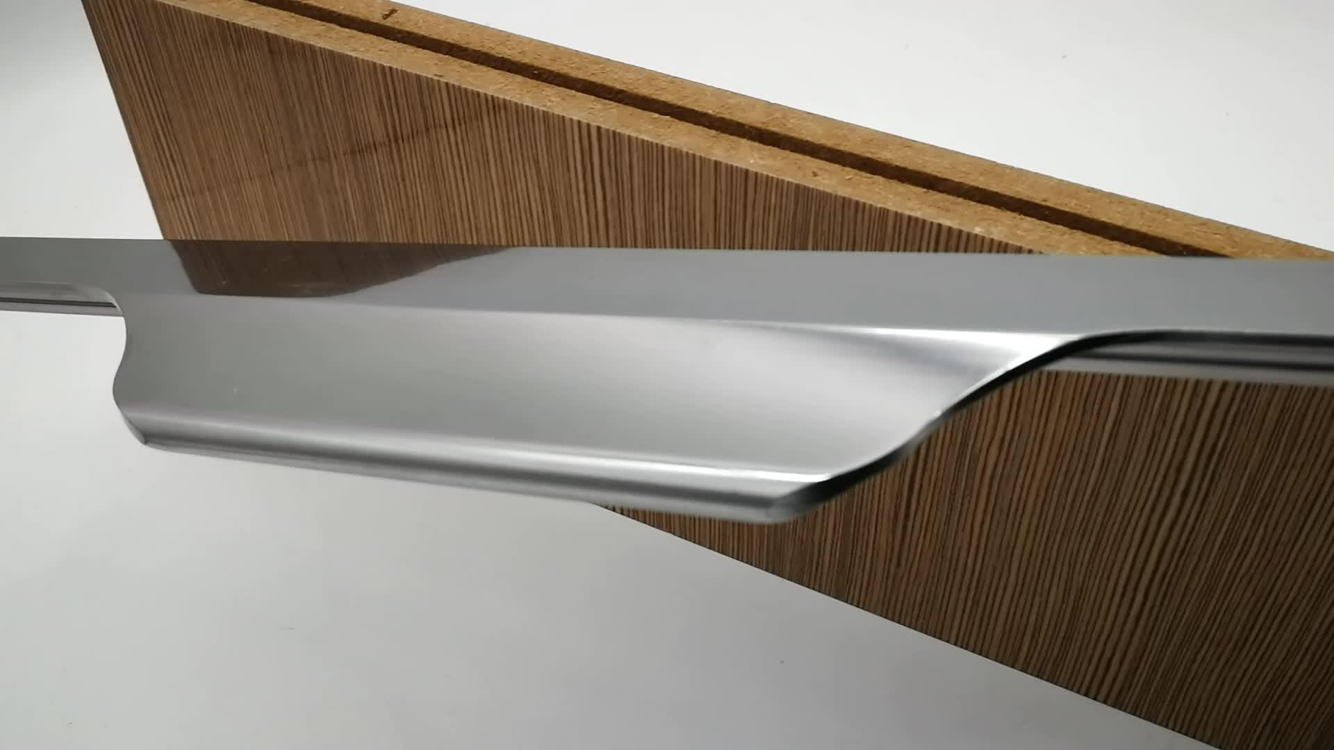 Modern aluminum profile handle for furniture hidden kitchen cabinet pull handle