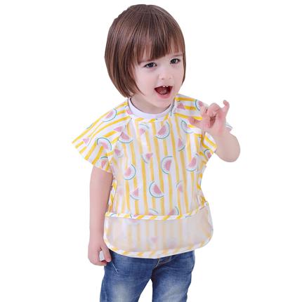 宝宝吃饭夏季防水无袖防脏透气围兜