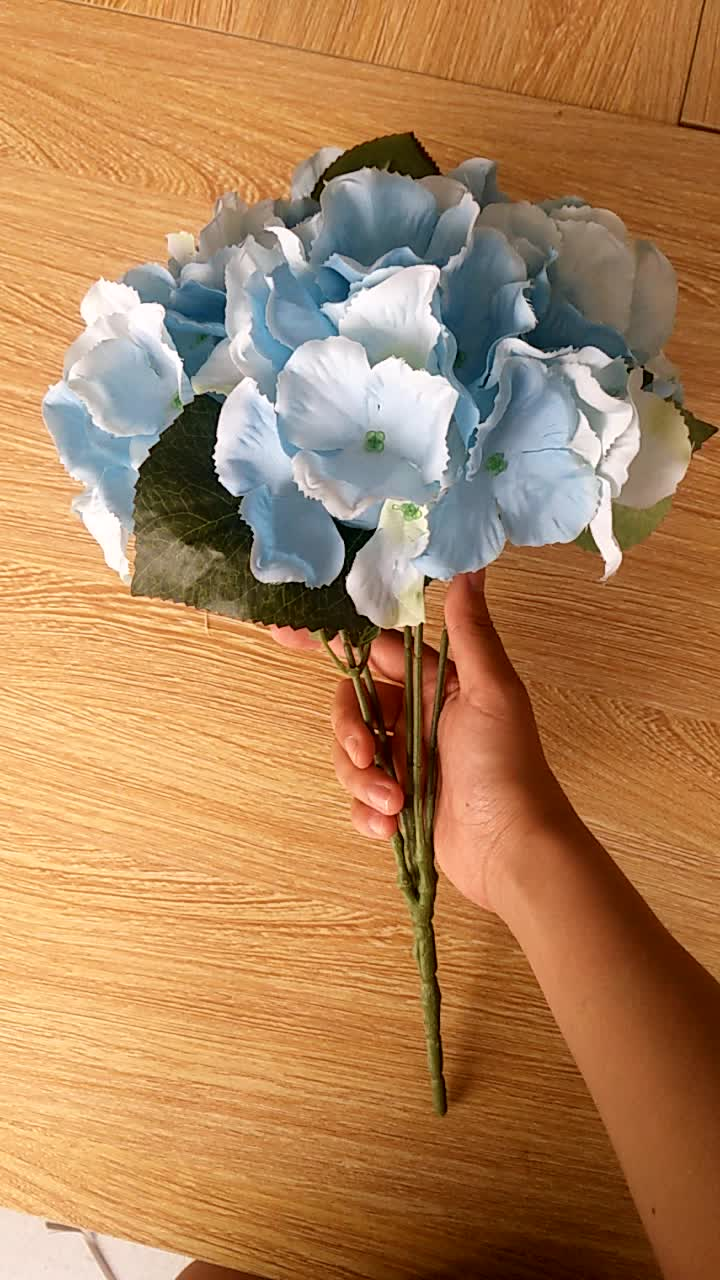 Wholesale cheap artificial flower blue hydrangea mini silk flowers wholesale cheap artificial flower blue hydrangea mini silk flowers izmirmasajfo
