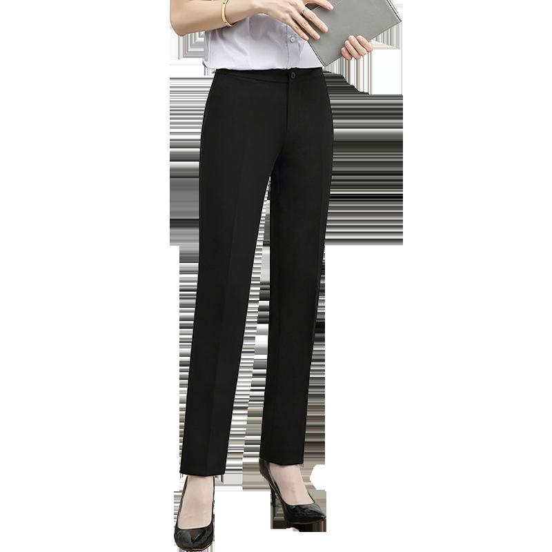 高腰工装裤女职业西裤西装裤工作裤长裤直筒裤子女裤职业裤春夏