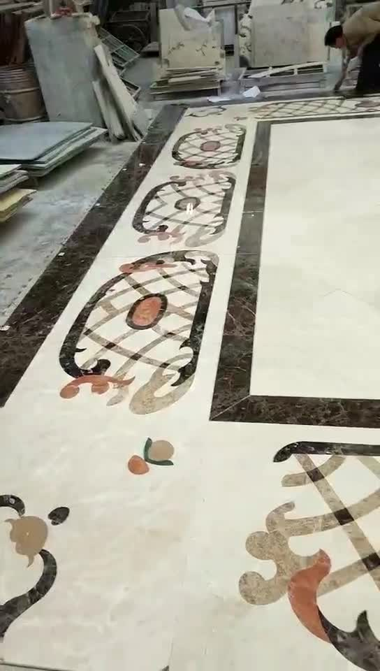 3 Home Decor Trends For Spring Brittany Stager: Magic Rectangle Marble Waterjet Medallions Pattern For