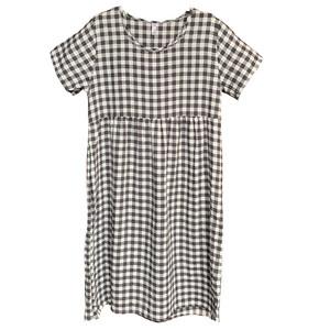 睡裙夏季短袖纯棉麻学生可爱连衣裙