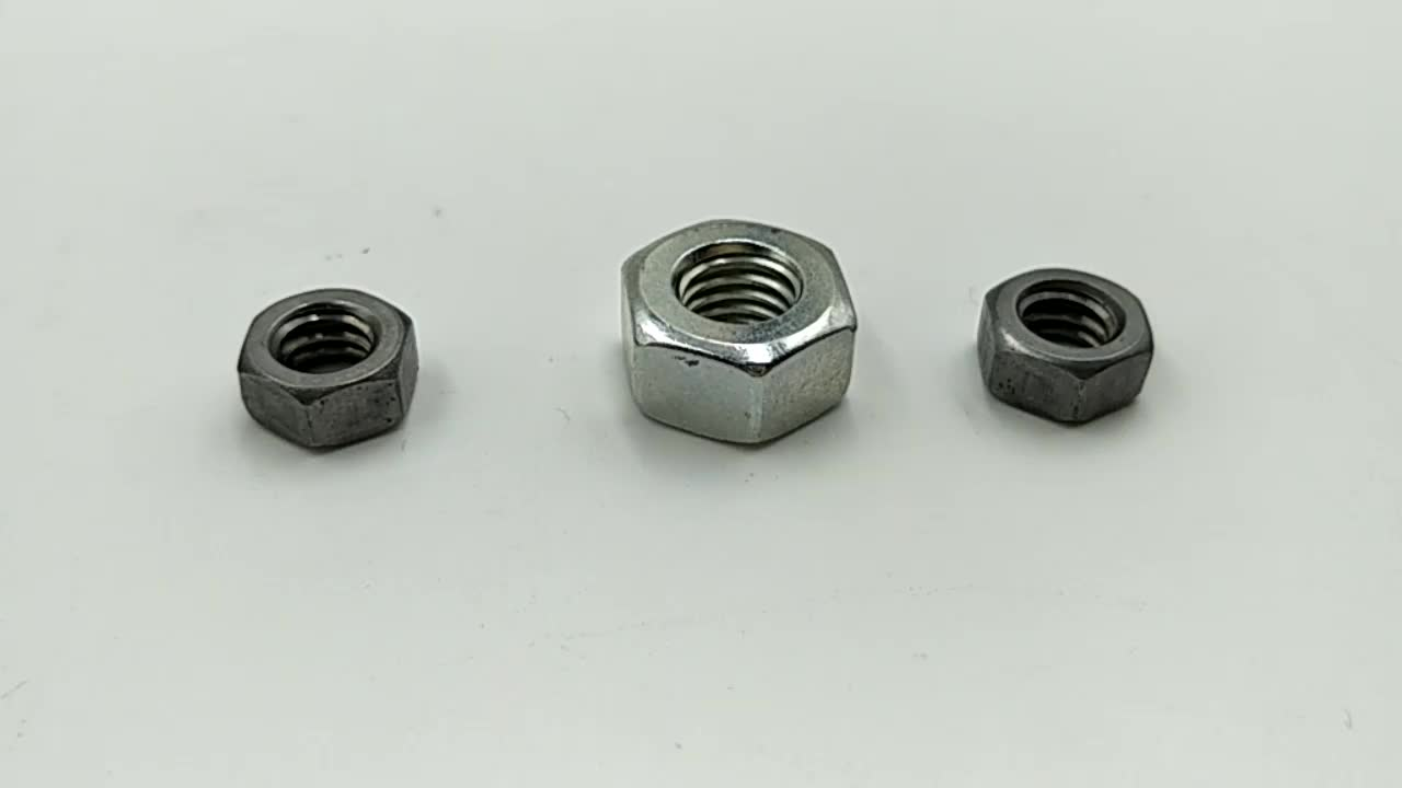 High quality 304 316 stainless steel hex nut