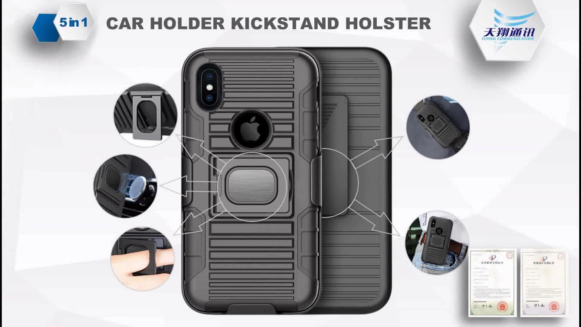 2017 venda quente de plástico combo holster ring armor kickstand caso de telefone para moto e4 com suporte do carro ímã