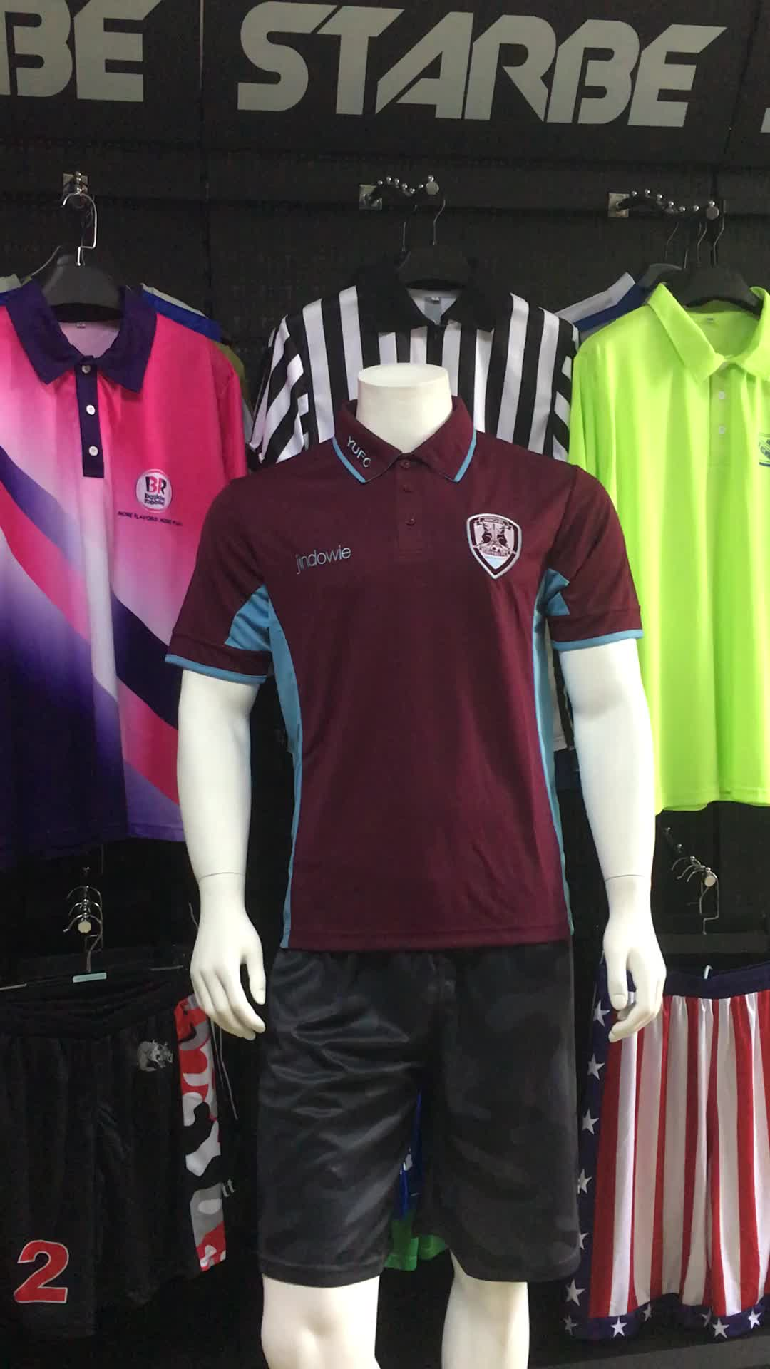 Custom Dry Fit Polyester Embroidery Logo Sport Polo Shirt Wholesale
