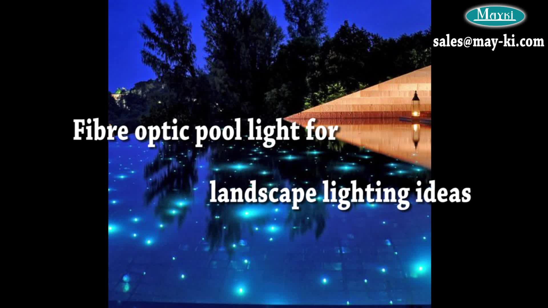 Top Quality Swimming Pool Fibre Optic Lighting With Led Light Engine And End Glow Fiber
