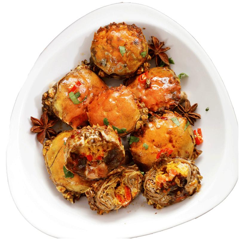 【第4件0元】香辣蟹罐装麻辣小螃蟹即食海鲜熟食360克公母蟹黄酱