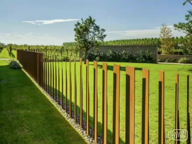 Delicieux Corten Steel Corrugated Metal Privacy Fence Panels For Garden Decoration