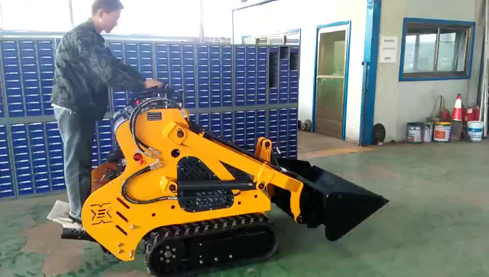 Vanguard Gaseline Engine 23hp 1100kg 0 15cbm Crawler Type Mini Skid Steer  Loader/ Mini Loader - Buy Mini Skid Steer Loader/ Mini Loader,Skid Loader