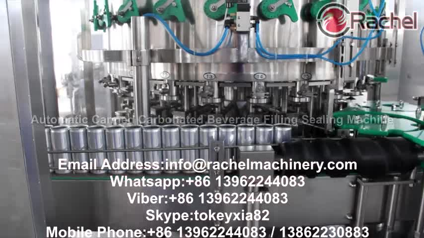 Automatic Carbonated Canned beverage filling sealing machine
