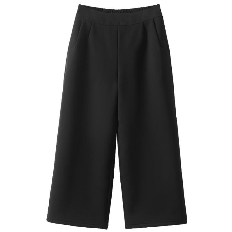 阔腿裤高腰垂感宽松直筒西装裤子评测参考