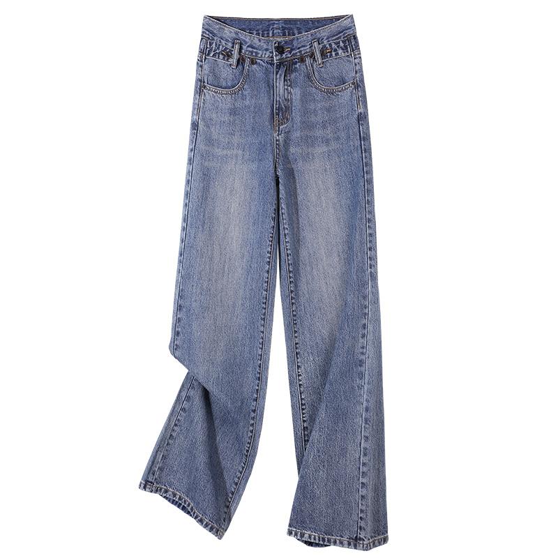 垂感高腰宽松2021春秋新款潮牛仔裤性价比高吗