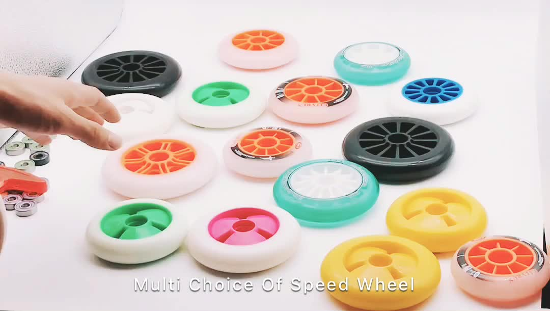 Custom High Quality Inline Skate Wheel Multiple Size And Color Options Available Rollerblade Wheel 72*24mm 76*24mm 80*24mm