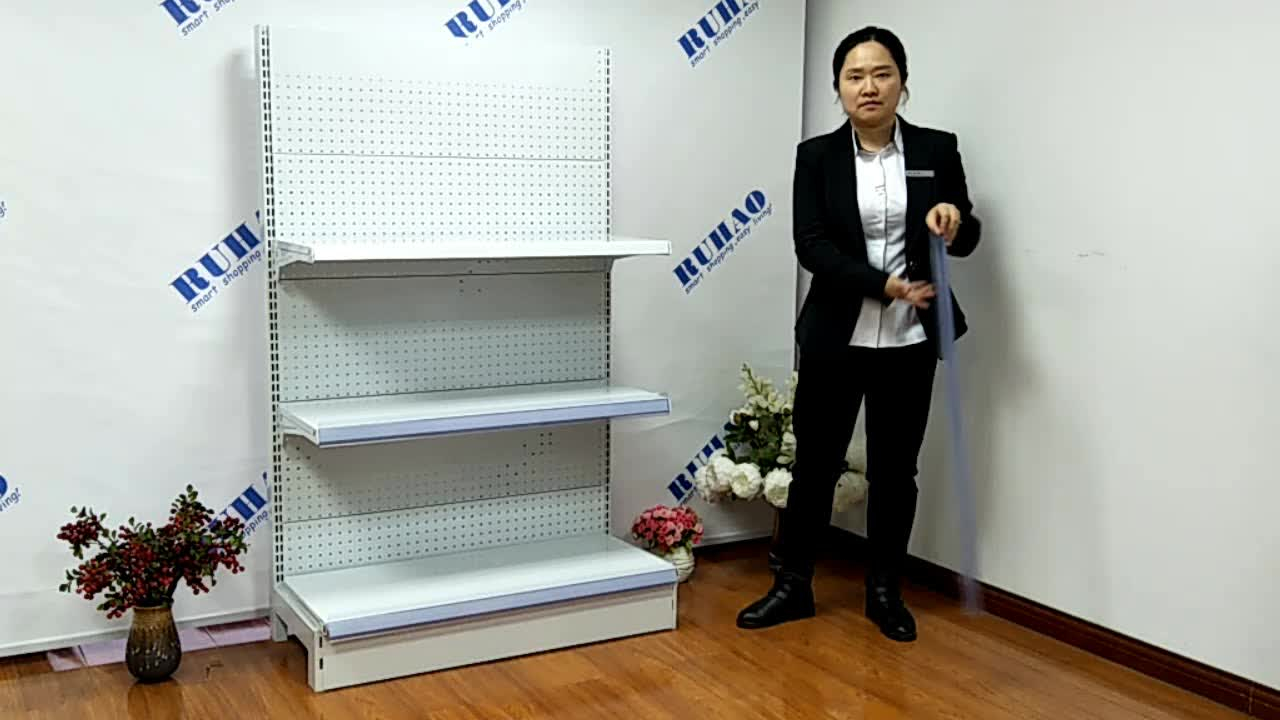 movable display rack with pegboard back panel