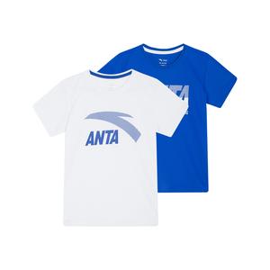 安踏儿童两件装男童短袖2021男t恤