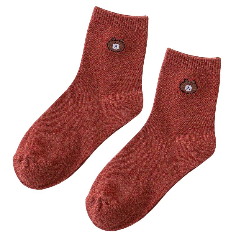 【南极人】女士中筒ins袜子10双