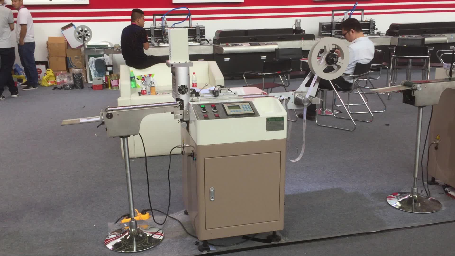 High Speed Satin Ribbon Ultrasonic Label Cutting Machine for Sale JC-3080