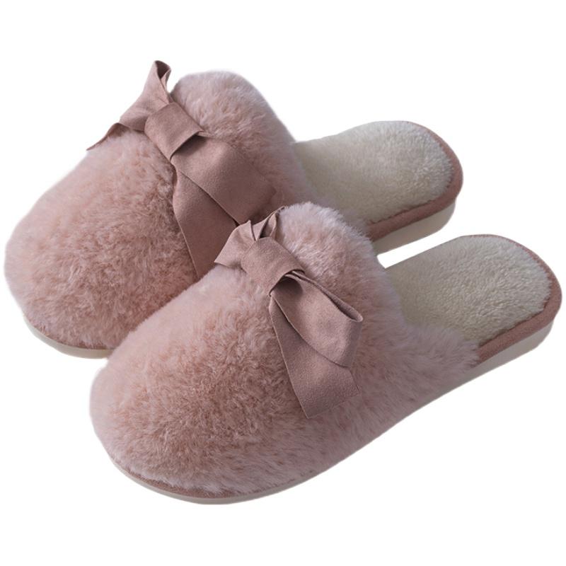 棉拖鞋女可爱毛绒冬天居家室内拖鞋质量如何