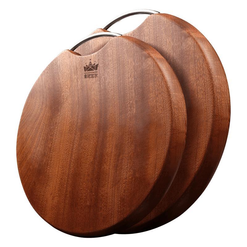 切菜板实木家用圆形菜板乌檀木整木面板厨房粘板加厚占板刀板案板