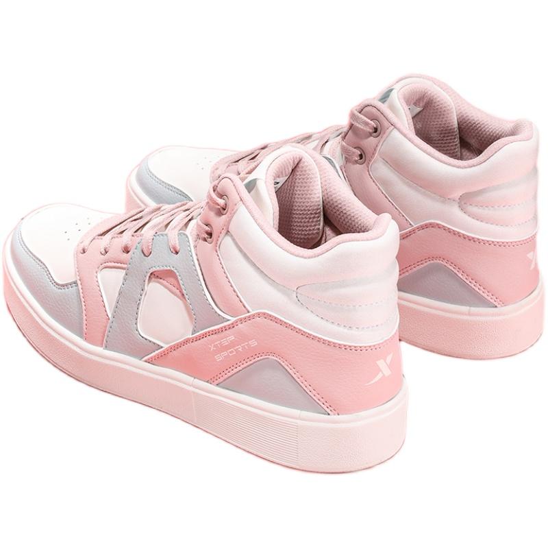 特步板鞋2021夏季新款透气樱花女鞋好用吗