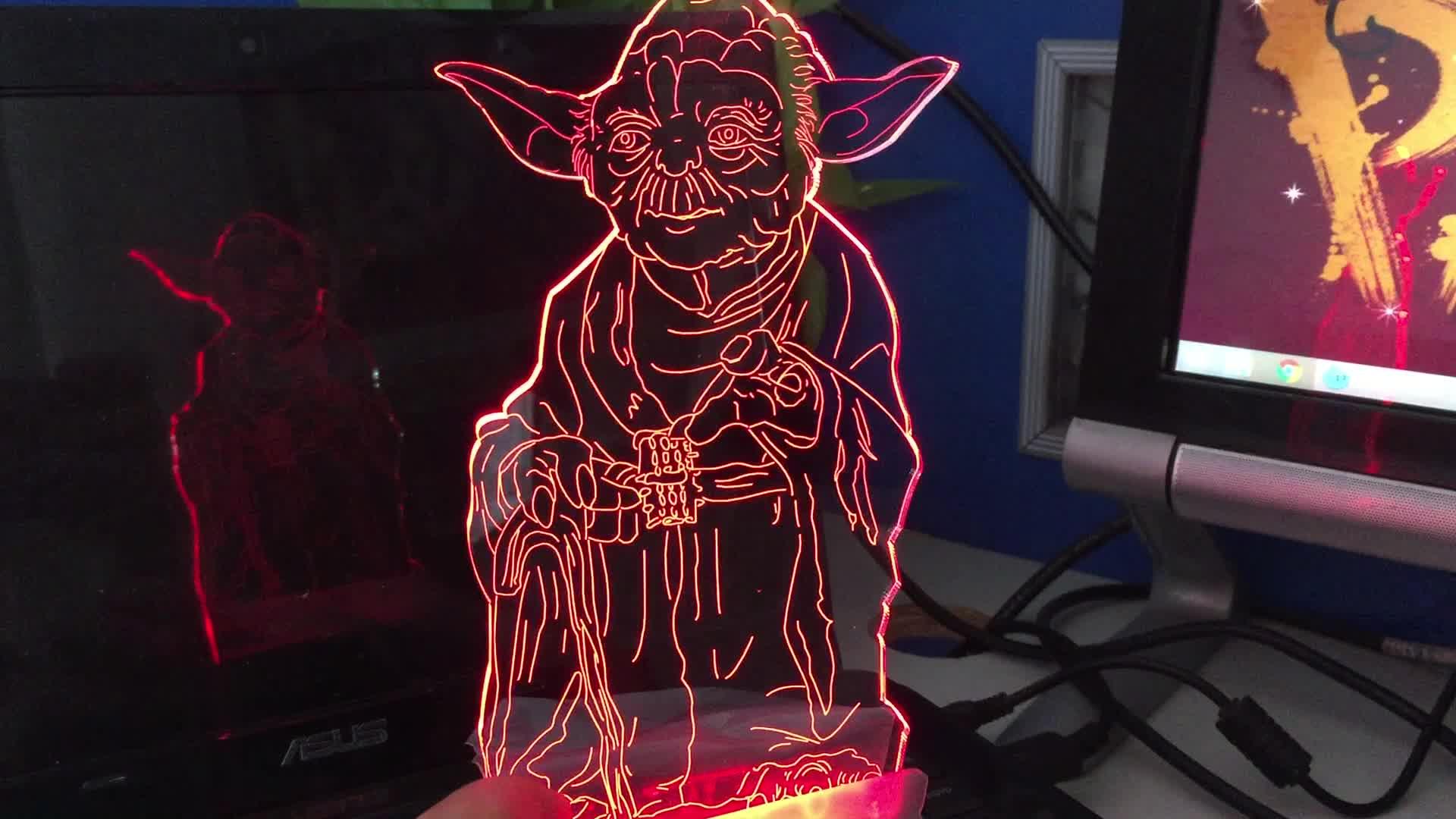 驚異ヒーロービルディングブロック動物ビジョン 3D 夜の光、 10 超高輝度 Led ライトランプ、 3D ナイトライトベビー 16 LED 色リモート