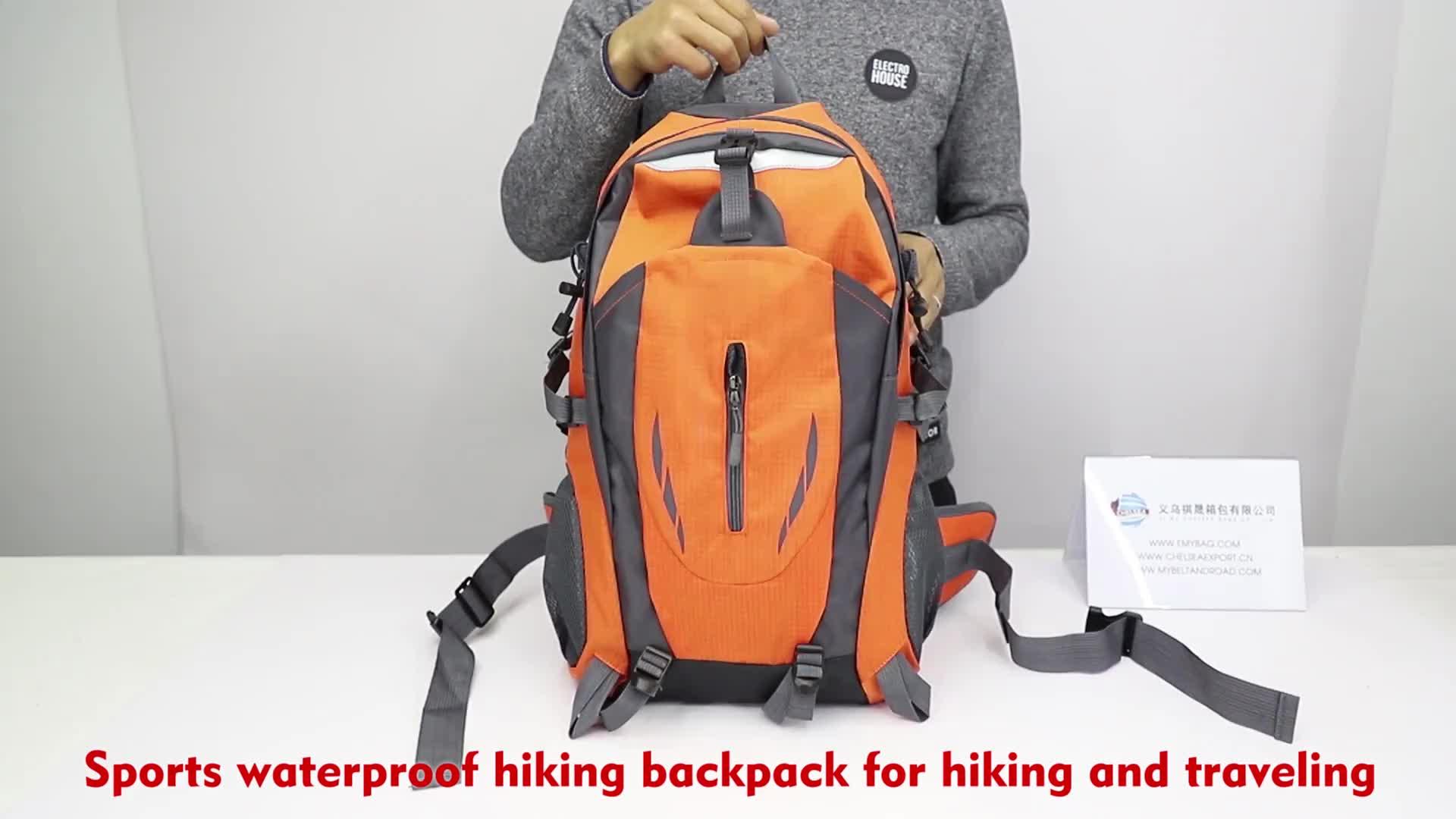 ขายส่งสีส้ม university กีฬากันน้ำกระเป๋าเป้สะพายหลังวัยรุ่นกระเป๋า