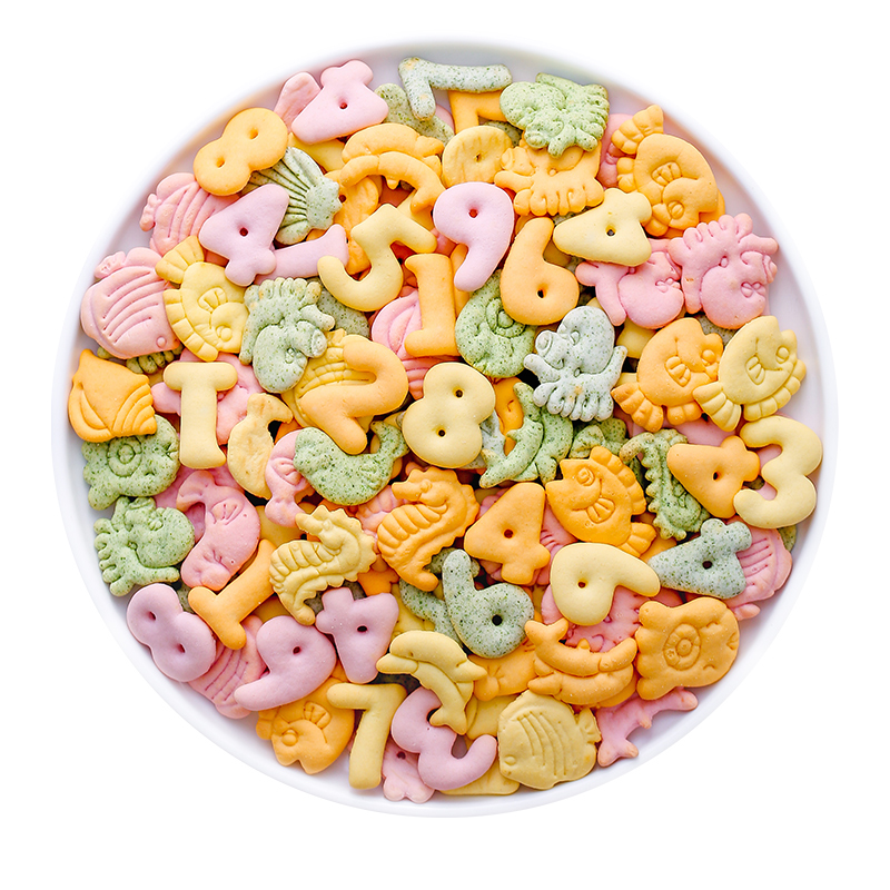 高钙动物字母数字饼干无添加糖精品