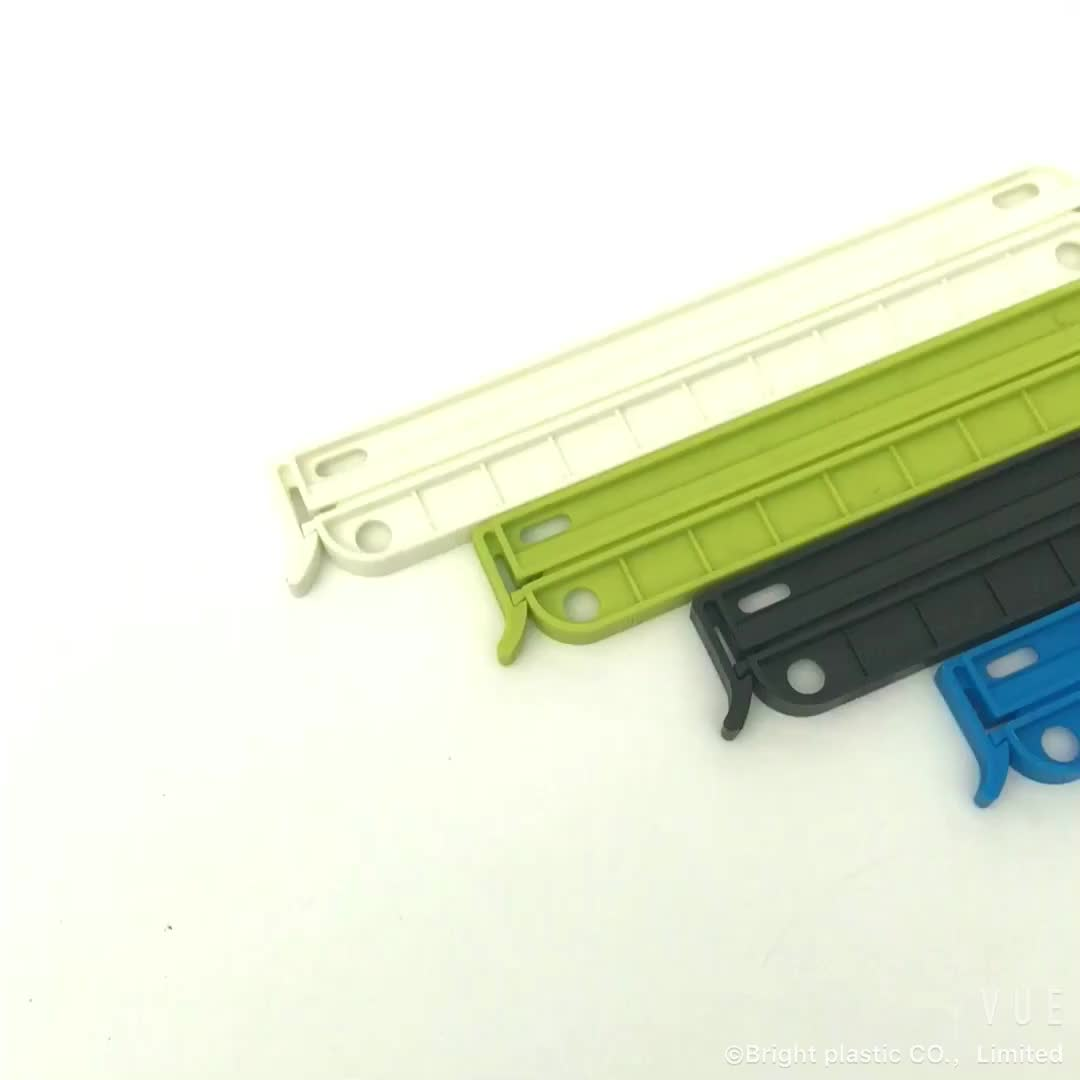 Cheap price hermetic plastic clip strip with customized logo