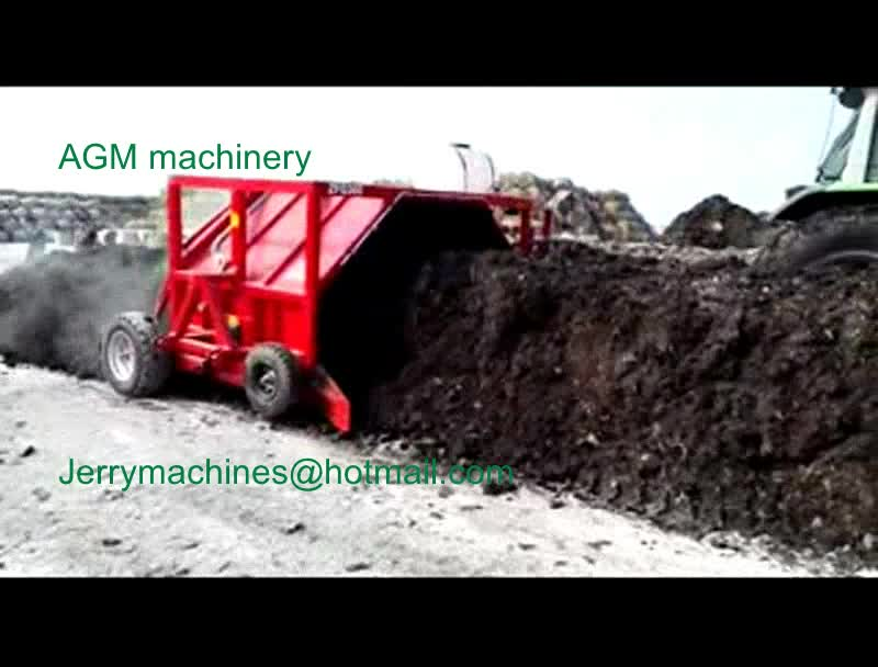 hot sale new design tractor towed hydraulic compost turner windrow turner windrow mixer with CE certification