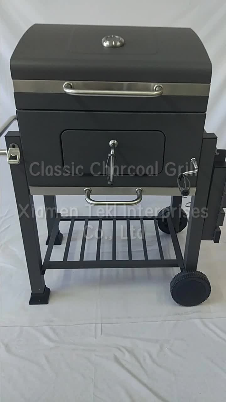 Gril bbq Commercial Flame Grill Chicken Cooking Machine Adjustable Grate Height Argentine Mexico BBQ Grill Charcoal Chicken Gril