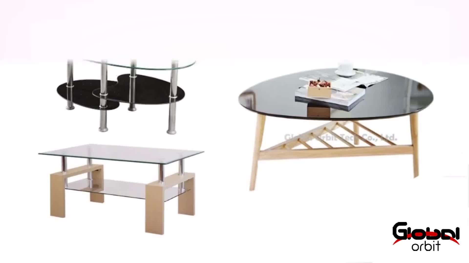 높은 품질 거실 가구 사이드 현대 나무 유리 커피 테이블 - Buy ...