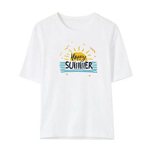 2021夏季新款短袖白色纯棉圆领t恤