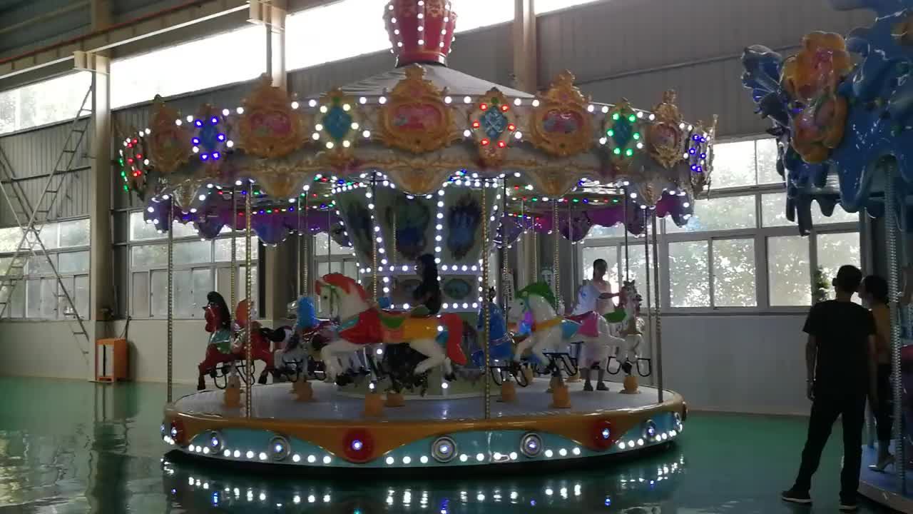 2017 Promotion 24 seats merry go round carousel for sale