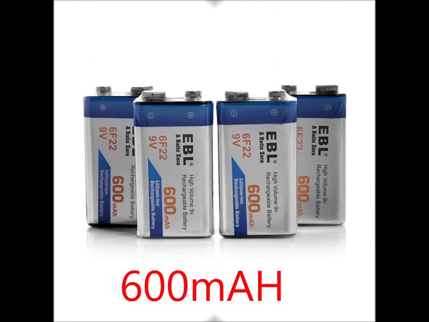 EBL Quick Battery Charger LCD 6 Slot Universal Battery Charger for AA AAA 9V C D Rechargeable Battery