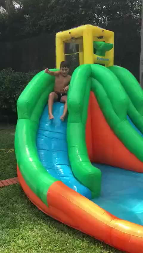 Colorful Backyard Inflatable Water Slide Inflatable Pool Slide water slide with pool