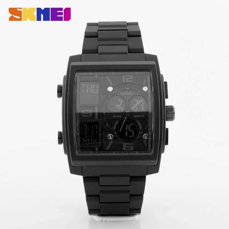 Azul del reloj SKMEI 1274 la duradera Caballero impermeable Multi-propósito relojes instrucciones manuales