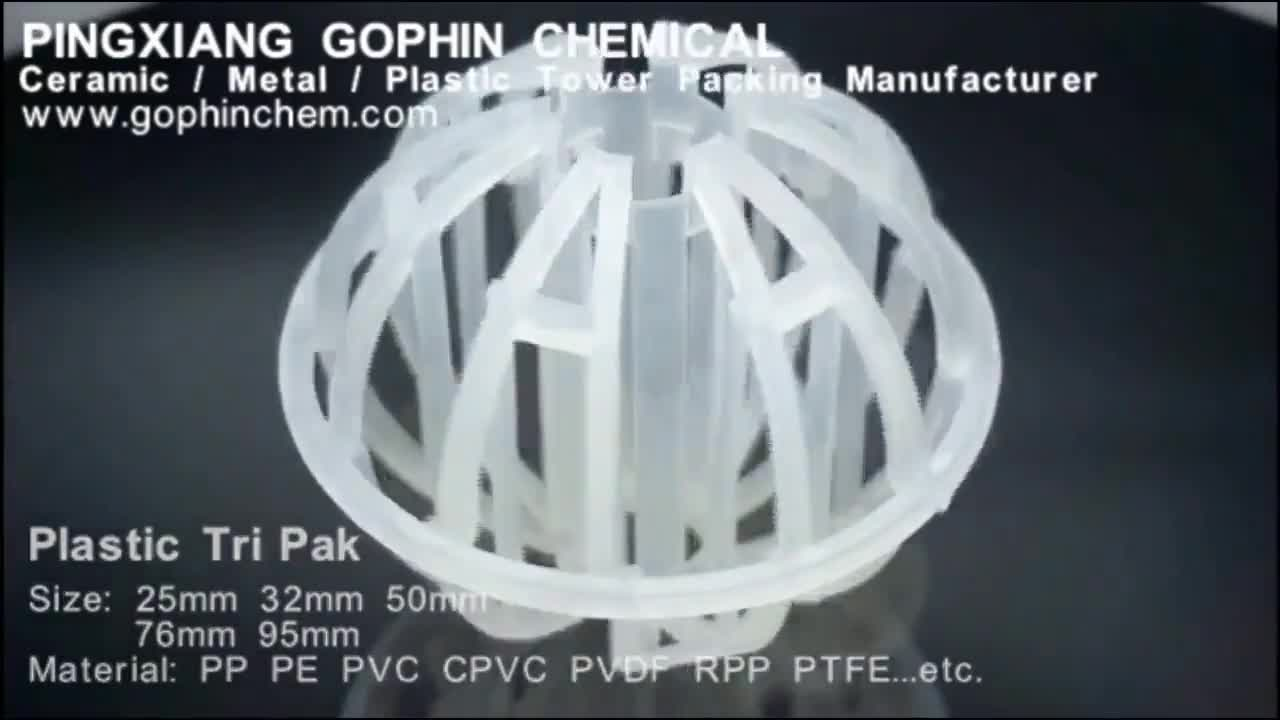 Ceramic Plastic Metal Tower Packing Mass Transfer Products
